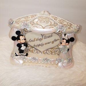 VTG Disney Minnie & Mickey Wedding Photo Frame